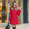 Cheap wholesale 2016autumn winter female popular medium-long down cotton warm casual Jacket plus size warm coat jaqueta feminina