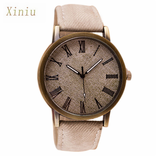 Clock For Men Women Retro Vogue Wrist Watches Womens Cowboy Leather Band Analog