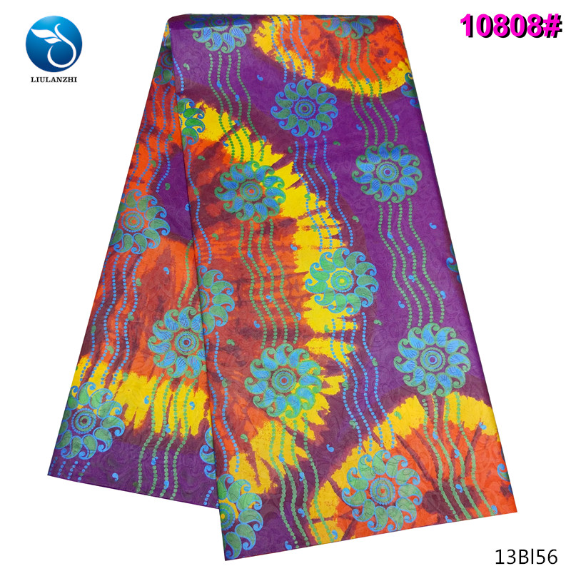 LIULANZHI Nigerian Riche Fabric for Cloth 2019 Polyester Bazin Fabric Women Dress Bazin Cheaper 13Bl55 in Fabric from Home Garden