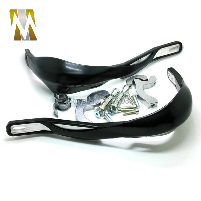 Free Shipping Black colorATV Parts Plastic and Aluminum 22MM 7 8 Handle Bar Hand Guards Guard