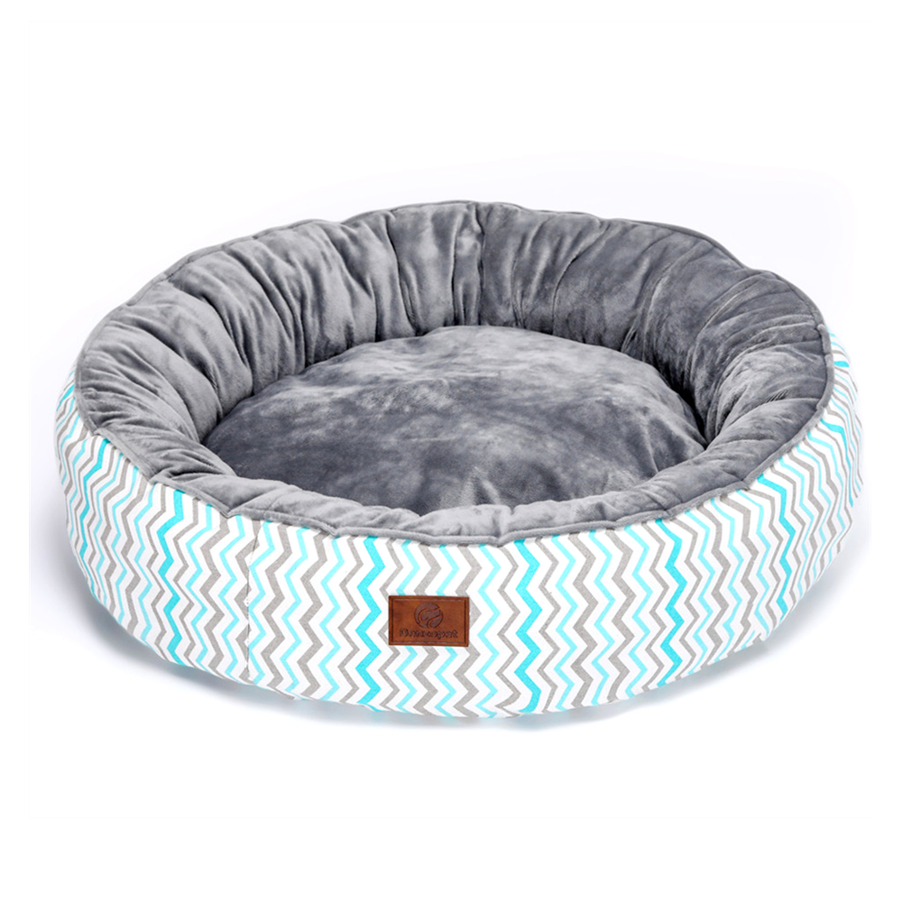 Crystal Plush Fleece Round Dog Bed Pet Bed For Cats And Dogs Breathable Super Comfy Pet House