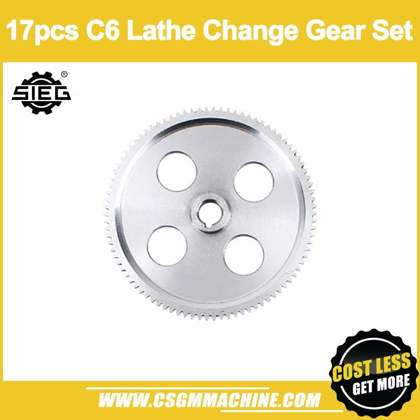 SIEG C6 lathe 17pcs Change Gear Set/Metric Change Gear SetSIEG C6 lathe 17pcs Change Gear Set/Metric Change Gear Set