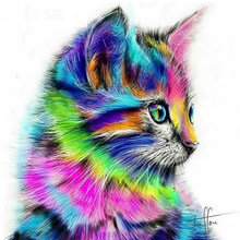 Hot Selling 5D DIY Diamond Painting Colorful Squirrel Cat Mosaic Embroidery Animal 3D Cross Stitch Needlework Crafts Decoration(China)