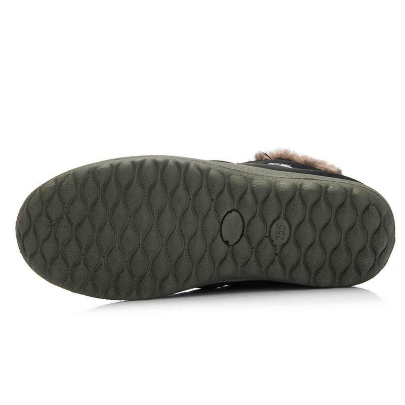 ขายร้อนฤดูหนาวหิมะสบายๆรองเท้ากันน้ำรองเท้าข้อเท้ารองเท้าแบนลื่นแฟชั่นผู้ชายฤดูหนาวรองเท้าขนาด 35-48