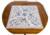 Dobadoura do relógio de madeira maciça Elm com jóias de luxo armário de madeira armário de exposição de corrente do relógio enrolador Automático