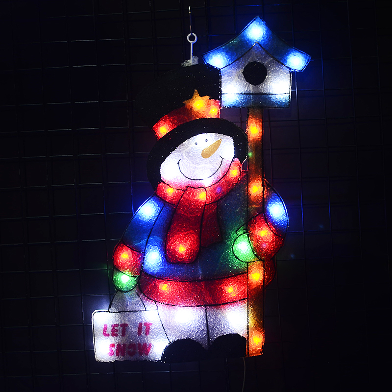 24V christmas snowman motif light - 22.24 in. Tall fairy lights christmas decoration holiday decoration home xmas tree light