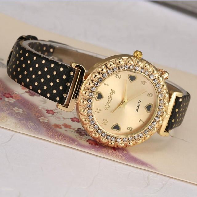 Fashion Colorful Women's Rhinestone Quartz Wristwatch
