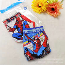 2 Pcs/lot Boys Boxer Childrens Cotton kids panties Underwear Spiderman Cartoon Boy Boxers 4-11T