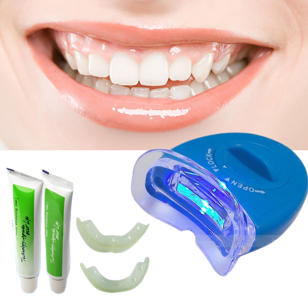 2015 hot new white light teeth whitening tooth gel whitener health oral care toothpaste kit for