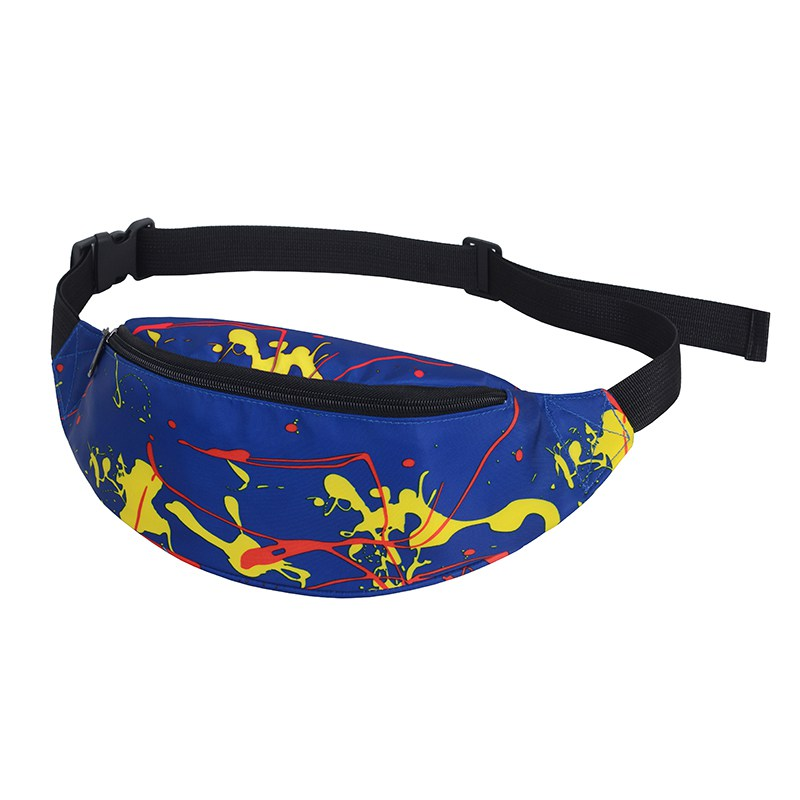 Outdoor Multi-functional Unisex Canvas Waist Bag For Running Cycling Hiking 8 Colors Bum Bag Zip Pouch
