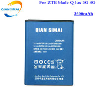 QiAN SiMAi 1PCS 2017 New 100 High Quality Battery For Zte Blade Q Lux 3g 4g