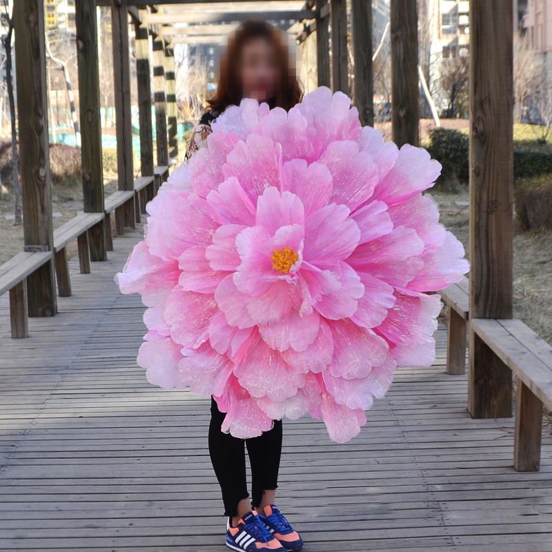 Peony Flower Umbrella Dance Props Props Wedding Family Party Decoration Fake Flower Wreath