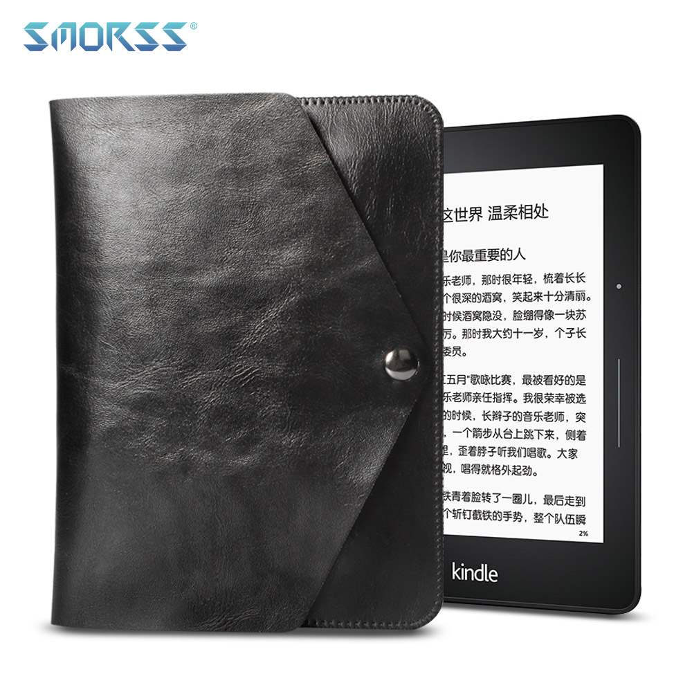 SMORSS Tablet Leather Case 6 inch Electronic Book Cover Ultra-thin Soft Surface PU Leather Multifunctional Protective Cover Bag