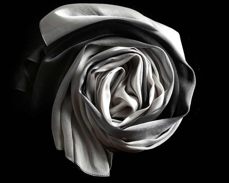 [SLKSCF] 60% X 90 см 13 разных цветов градиентный цвет 180 Шелковый атласный шарф шелковые шарфы женский новый дизайн длинные шелковые хиджабы накидки