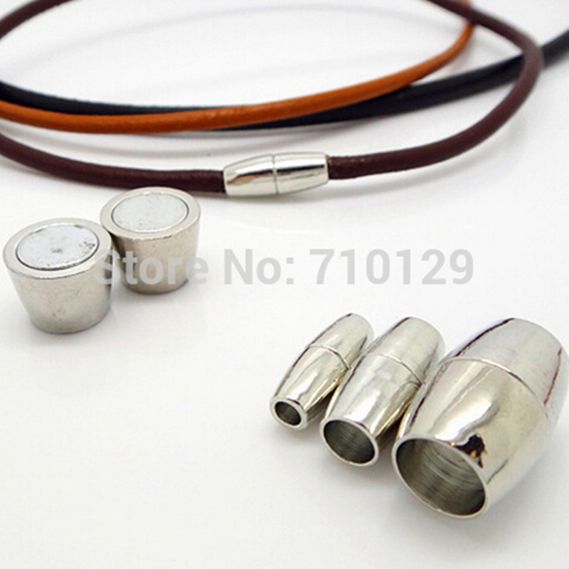 GHRQX Hot Sell 5 pcs Nickel Plated Magnetic Clasps leather cord   Jewelry Findings fitting
