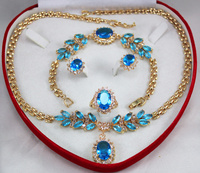 hot sell new hot set 0035 zircon necklace, earing, bracelet , ring set (A0425)
