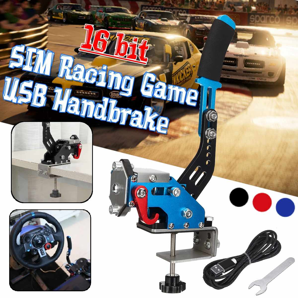 Autoleader g29/g27/g25 Brake System Handbrake pc 14bit Hall Sensor USB SIM racing For Racing Games T300 T500 FANATECOSW DIRT image