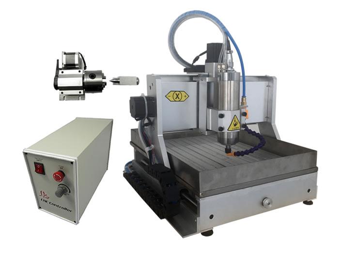 4axis mini cnc milling machine 3020Z VFD800W USB with water tank cnc router 4axis cnc router 3040z vfd800w engraving machine cnc carving machine cnc frame assembled