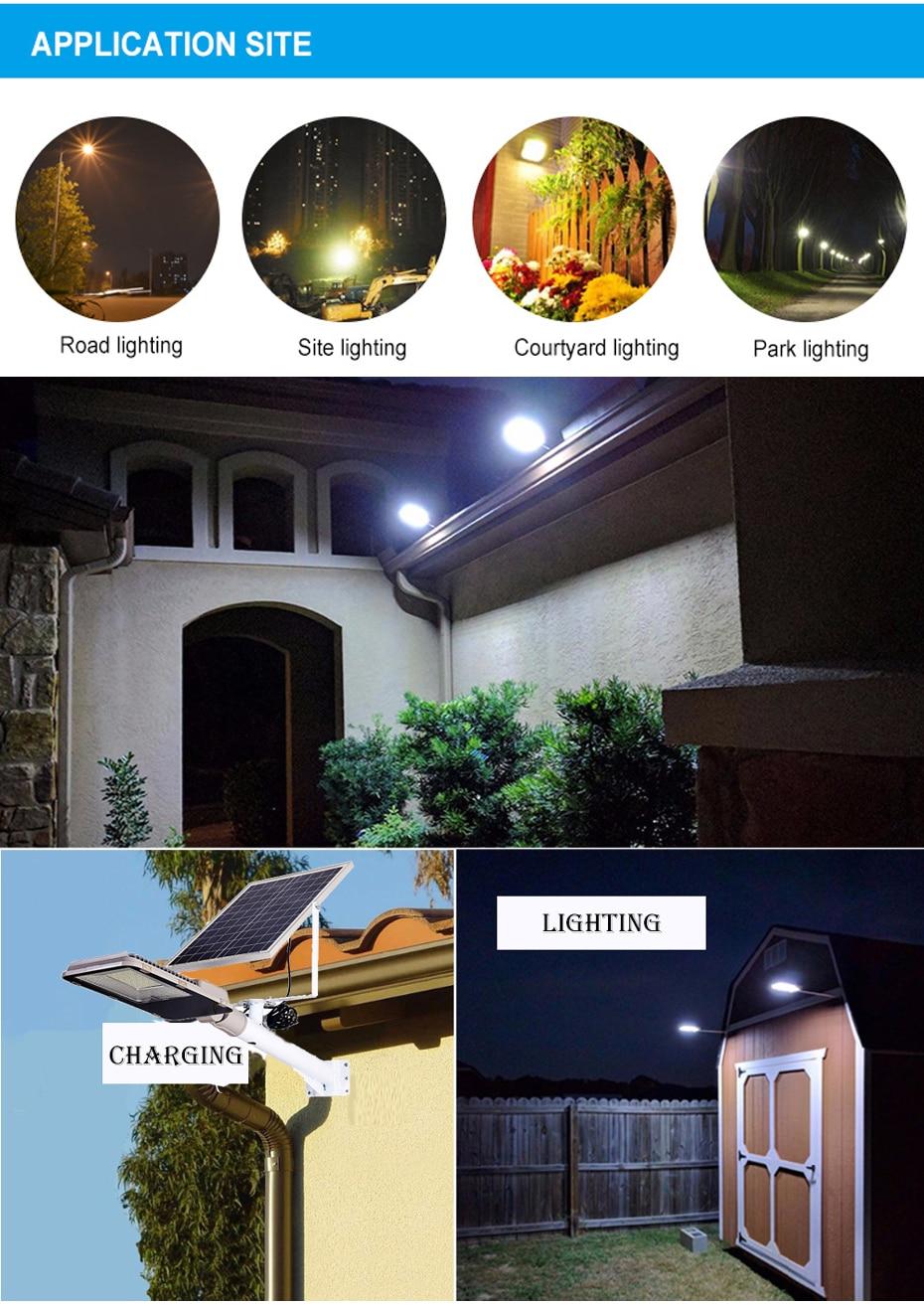Led 屋外ソーラー街路灯海外倉庫防水大型太陽電池パネルリモコン高輝度 GUGI 街路灯の庭 4