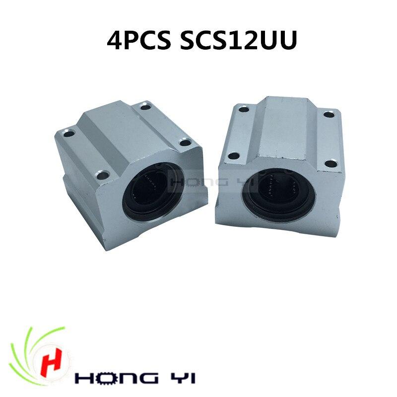 4pcs SCS12UU 12mm Linear Ball Bearing Pellow Bolck Linear unit for SBR12 CNC anon маска сноубордическая anon somerset pellow gold chrome