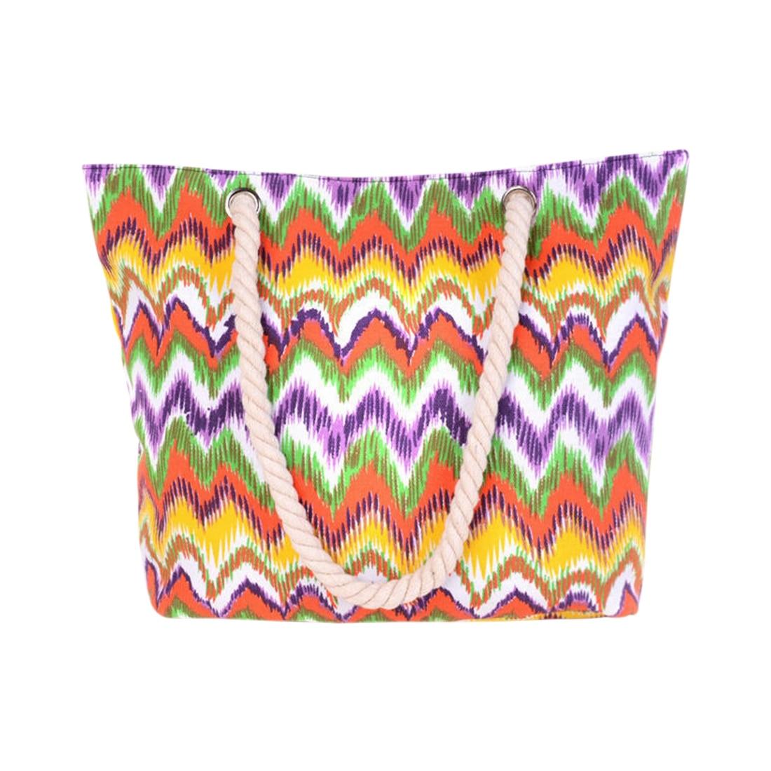 Женская Повседневная полотняная большая емкость сумка