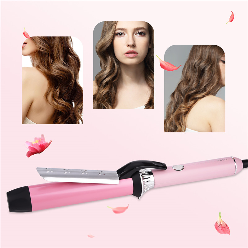 Ceramic Styling Tools LCD Digital 38MM Pro Hair Curling Iron Cone Electric Curl Hair Curler Roller Hair Waver Magic Curling Wand ushow automatic hair curler pro ceramic hair curling iron magic wave curl roller curling wand hair styler
