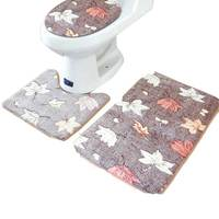 3Pcs/set Bathroom Mat Set Flannel Anti Slip Kitchen Bath Mat Carpet Bathroom Toliet Washable Tapete Banheiro Bathroom Rug Set