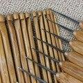 1 Conjunto 12 pçs/lote Nova DIY De Bambu Crochet Hooks Artesanato Agulha De Tricô Tecer Fios VBD83 P