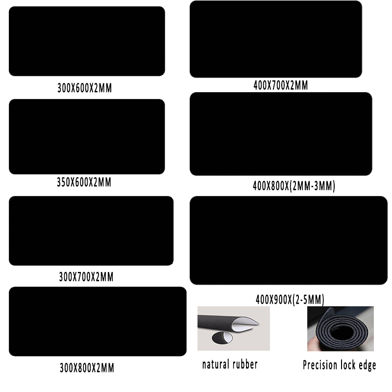 Rantopad XXL Gaming Mouse Pad Oversized Mouse Pad Black Precision Lock Precision Woven Surface Keyboard Mat Player Speed Control rubber mouse pad mat black