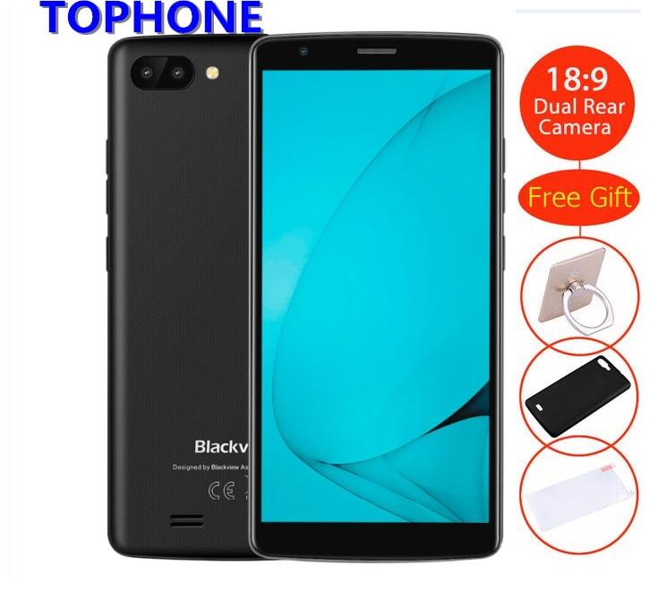 Оригинал Blackview A20 смартфон 18:9 5,5 HD Android Go двойной сзади Камера 1 ГБ + 8 ГБ MT6580M 5MP 3g gps WCDMA 3000 мАч мобильного телефона