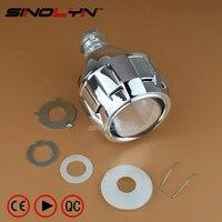 Car Motorcycle Mini 2 5 HID Bixenon Projector Lens Headlight Retrofit Mini Gatling Gun Shroud H7