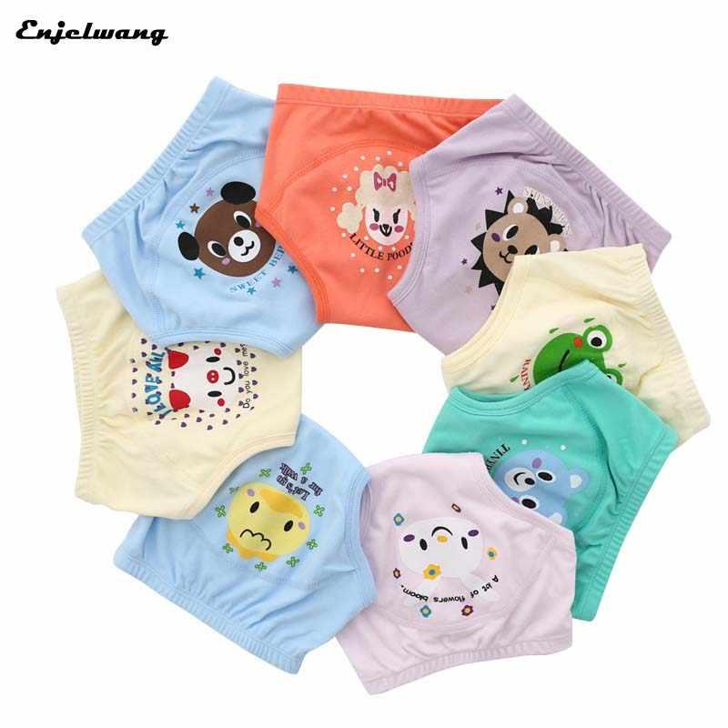 1 pcs Reutilizáveis Calças de Treinamento Fralda de Pano Do Bebê Criança Crianças Meninas Meninos Calcinhas-nascidos Penico Infantil Roupa Interior Barato