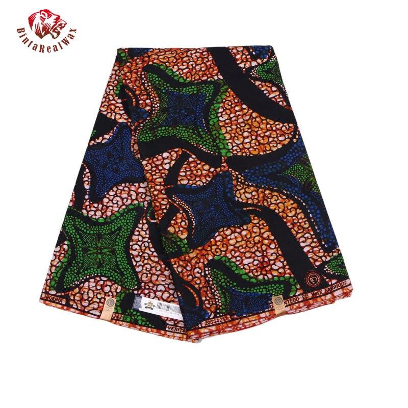Qualité garantie véritable tissus africains néerlandais réel nouveau bintarealwax vraie cire vêtements africains 100% coton 6 Yards PL487