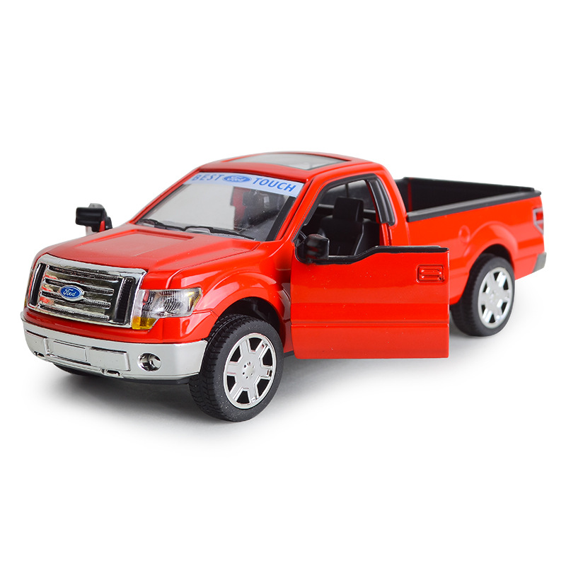 1/32 Pickup F-150 Alloy Automobile Model With Power Function Acousto-optic Toy Vehicle