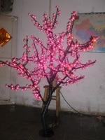Free ship Christmas New year decor red Cherry Blossom Tree Light 480pcs LED Bulbs 1.5m Height 110/220VAC Rainproof Outdoor