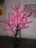 Libérez le bateau De Noël Nouvel an décor rouge Cerise Blossom Arbre Lumière 480 pcs LED Ampoules 1.5 m Hauteur 110/220VAC Étanche À La Pluie En Plein Air