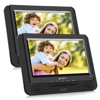 Pumpkin 9''Car Headrest Dual Screen Portable DVD Player Car Monitor 800*480 TFT LCD Screen DVD Video Player Support USB/SD/MMC