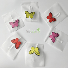 New Butterfly Tag, 100pcs/lot 58 X 70mm Pyramid Nylon Tea Bags, Disposable filters, Strings with Free shipping!