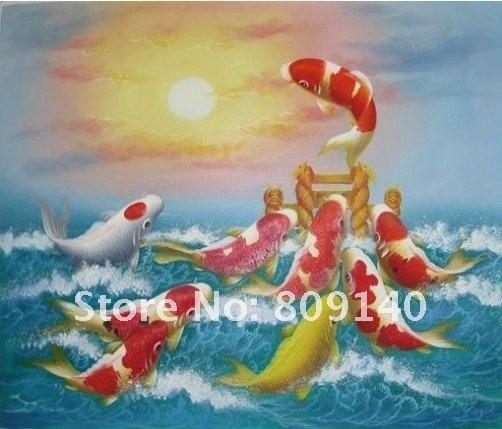 Aliexpresscom  Buy oil painting decoration Feng Shui Koi fish