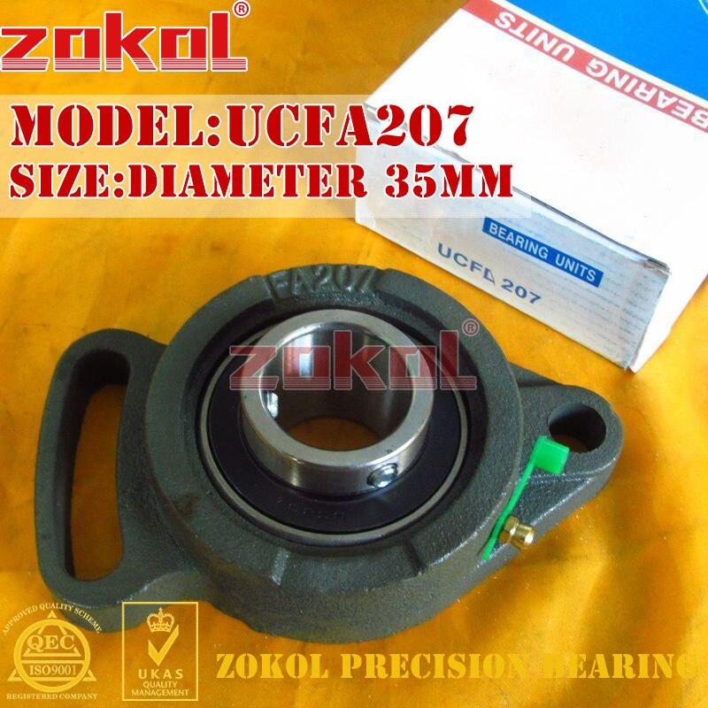 ZOKOL bearing UCFA207 LA90507 Pillow Block Ball Bearing Units diameter 35mm zokol bearing 51312 thrust ball bearing 8312 160 200 31mm