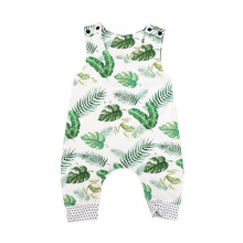 Toddler Baby Boy Girl Frog Romper frog Banana leaves Jumpsuit Outfit Playsuit Clothes 0-3T(China)