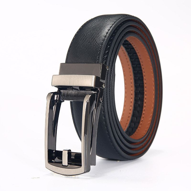 Leather high quality automatic pin buckle luxury fashion classic belt jeans belt casual belt business men automatic buckle belt in Men 39 s Belts from Apparel Accessories
