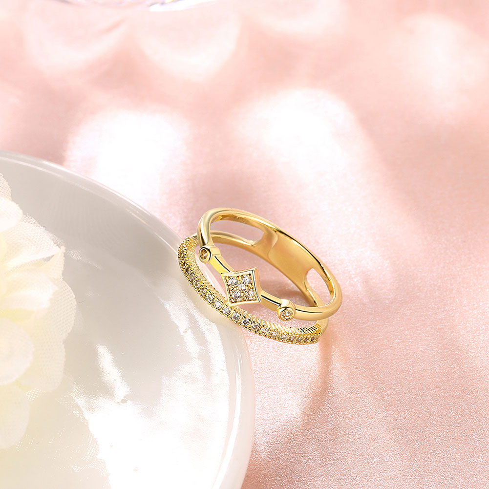 Free Shipping Hot 2016 gold color jewelry wedding rings Crystal ...
