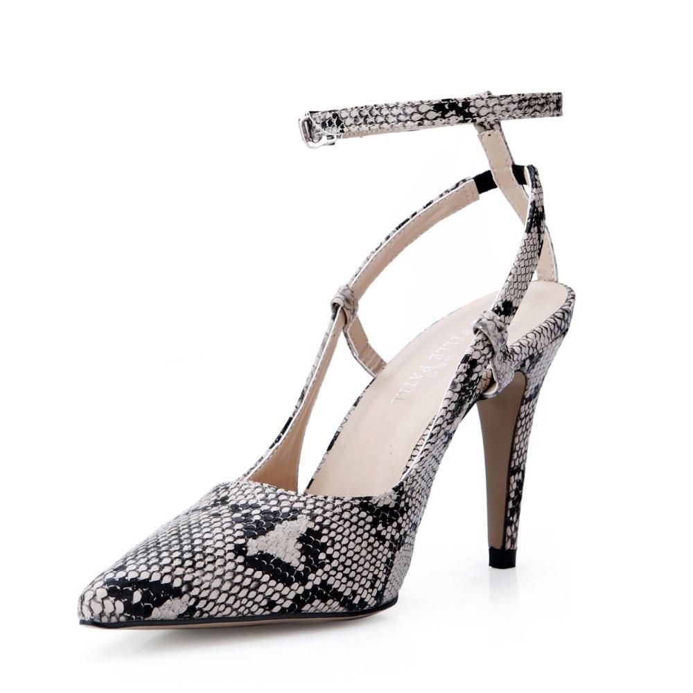 Fermé Boucle Pompes 42 Sexy De Chaussures T Med Serpent Hauts Peau dBeWCxro