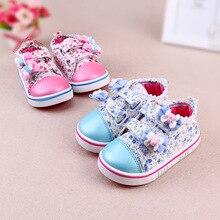 Bébé chaussures pour les filles Sneaker chaussures printemps Casual bébés filles chaussures de toile à lacets princesse filles 0 – 1 anos respirant chaussures