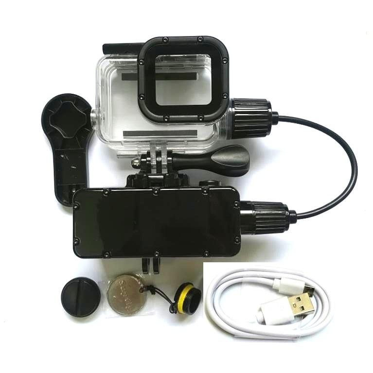5200mAh Waterproof Power Bank Battery Charger Waterproof case for GoPro Hero 87643 Action Camera Gopro5 SJ8/6 Charging Shell/Box
