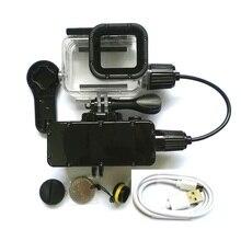 Capa carregadora para gopro hero 5200, banco de energia, à prova dágua, 87643 mah, câmera de ação, gopro5 sj8/6, carregamento concha/caixa