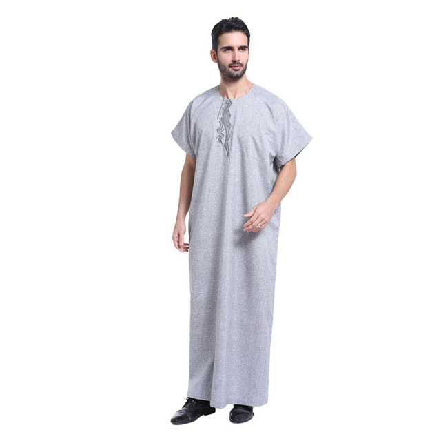Men's Long Solid Color Indian Robe