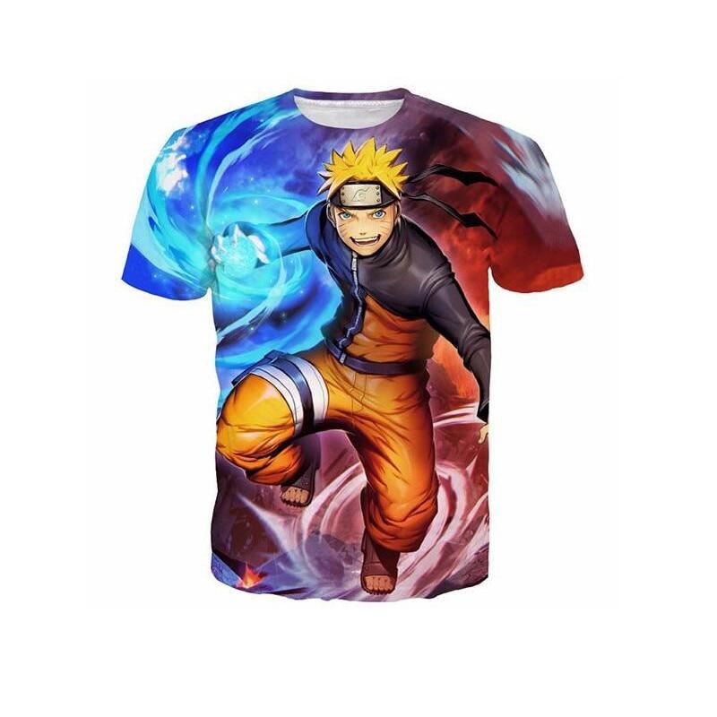 64c339557 ... Brand Clothing Men's T shirt Anime Naruto Uzumaki Naruto Sasuke 3D  Print Cartoon T-Shirt ...