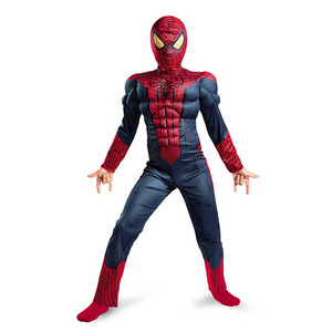 Image 3 - Пурим Хэллоуин костюм Человек паук Бэтмен Супермен костюм для мальчика Детский карнавальный костюм супергерой Мстители косплей одежда